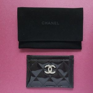 100% Authentic Chanel Patent Cardholder
